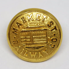 SF Cable Car Market Street Railway Co. Blazer Button Set