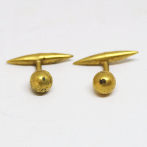 Ball and Pointed Oval Cufflinks