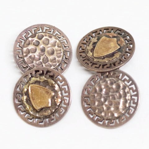 Gold Crest Sterling Cufflinks