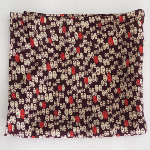 Creamy Brown, White, and Orange Rayon Pocket Square by Put This On