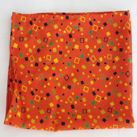 Celebratory Orange, Yellow, and Green Rayon Pocket Square by Put This On