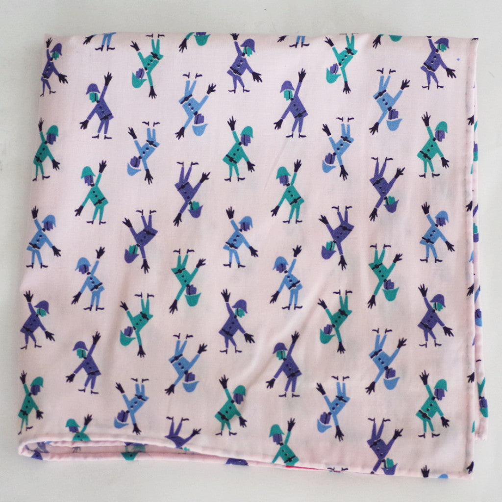 Groovy British Bobby Pink Pocket Square by Put This On