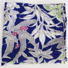 Tropical Blue and Grey Rayon Pocket Square by Put This On