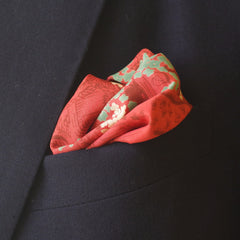 Picnic-Ready Rusty Orange Rayon Pocket Square by Put This On