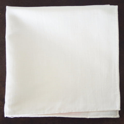 Coarse White Cotton Pocket Square by Put This On