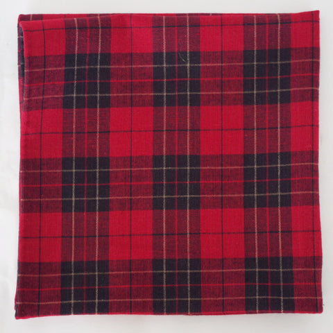 Rustic Red Check Cotton Pocket Square by Put This On