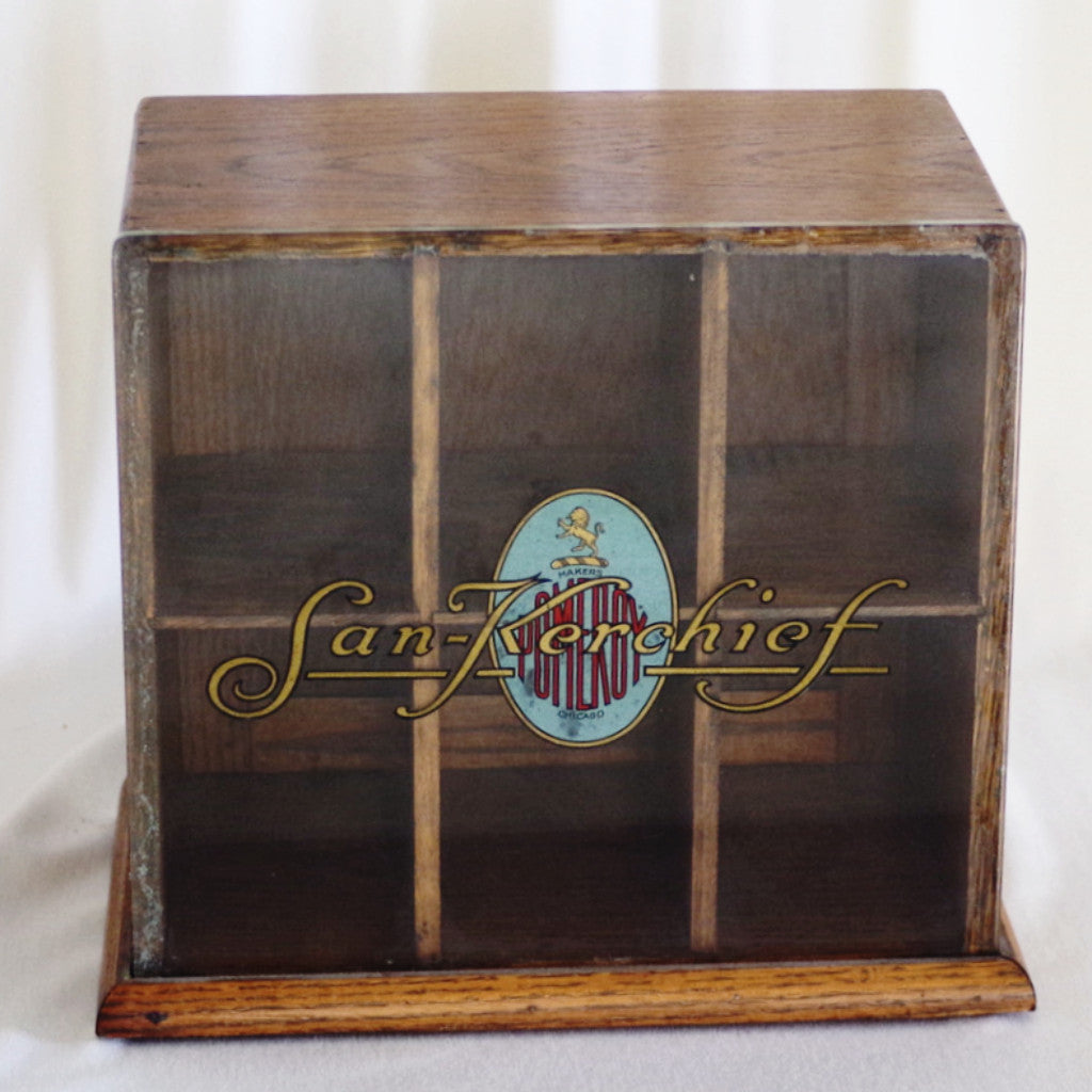 "Superb Vintage Pomeroy ""San-Kerchief"" Display Case"