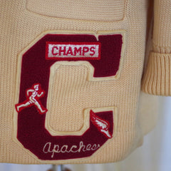 Vintage Track and Field Letterman Cardigan- L