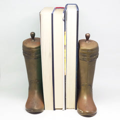 Brass Riding Boot Bookends