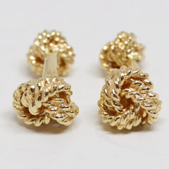 Amazing 14kt Gold Knot Cufflinks