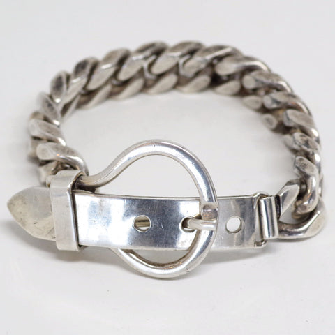 "Sterling ""Belt Buckle"" Bracelet"