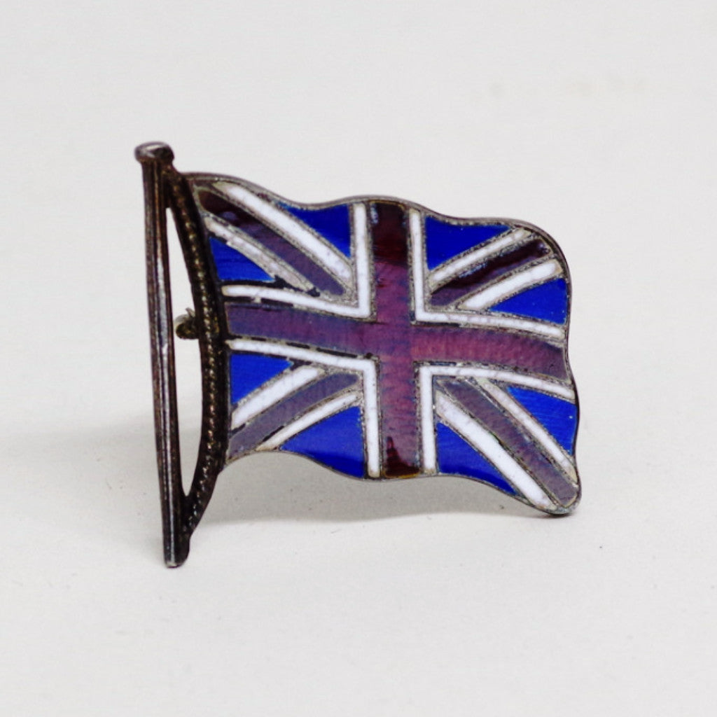 Silver and Enamel Union Jack Pin