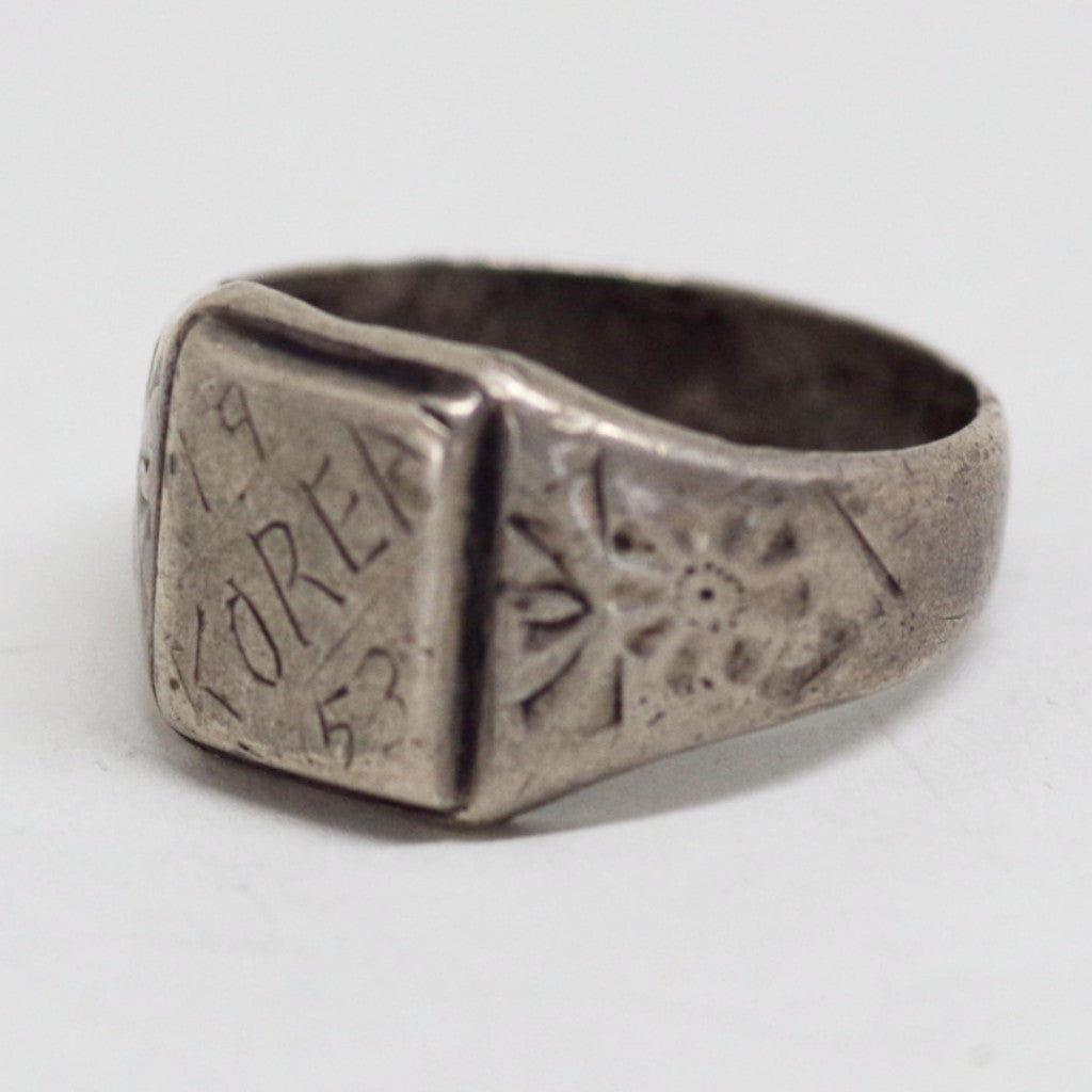 "Trench Art ""Korea"" Ring"