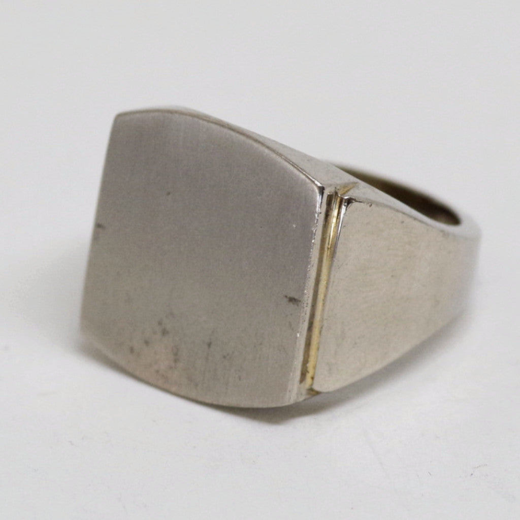 Large Face Sterling Ring