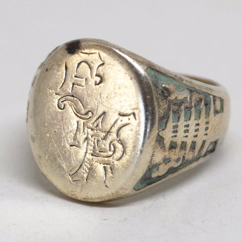 Vintage Chinese-Inspired Signet Ring