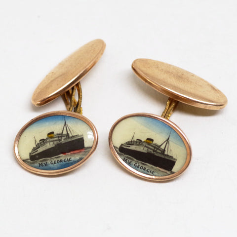 MV Georgic White Star Liner Cufflinks