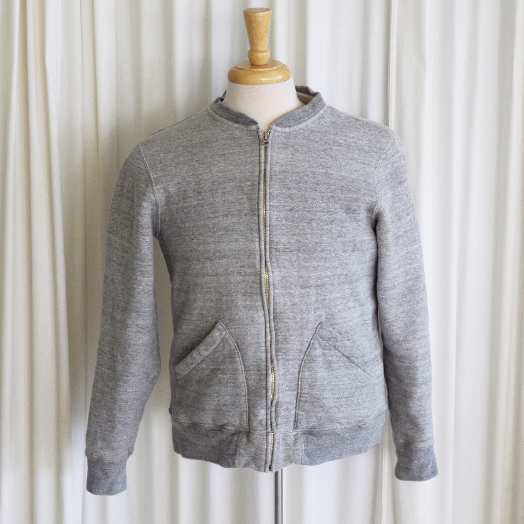 Real McCoy's Heather Grey Sweatshirt Jacket- XL (fits like L)