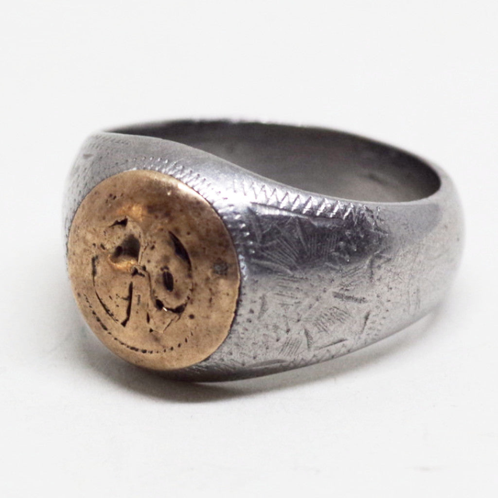 Copper Detail Signet Ring