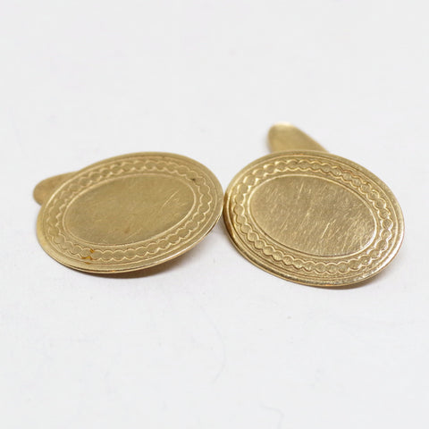 Gold Edwardian Curvy Cufflinks
