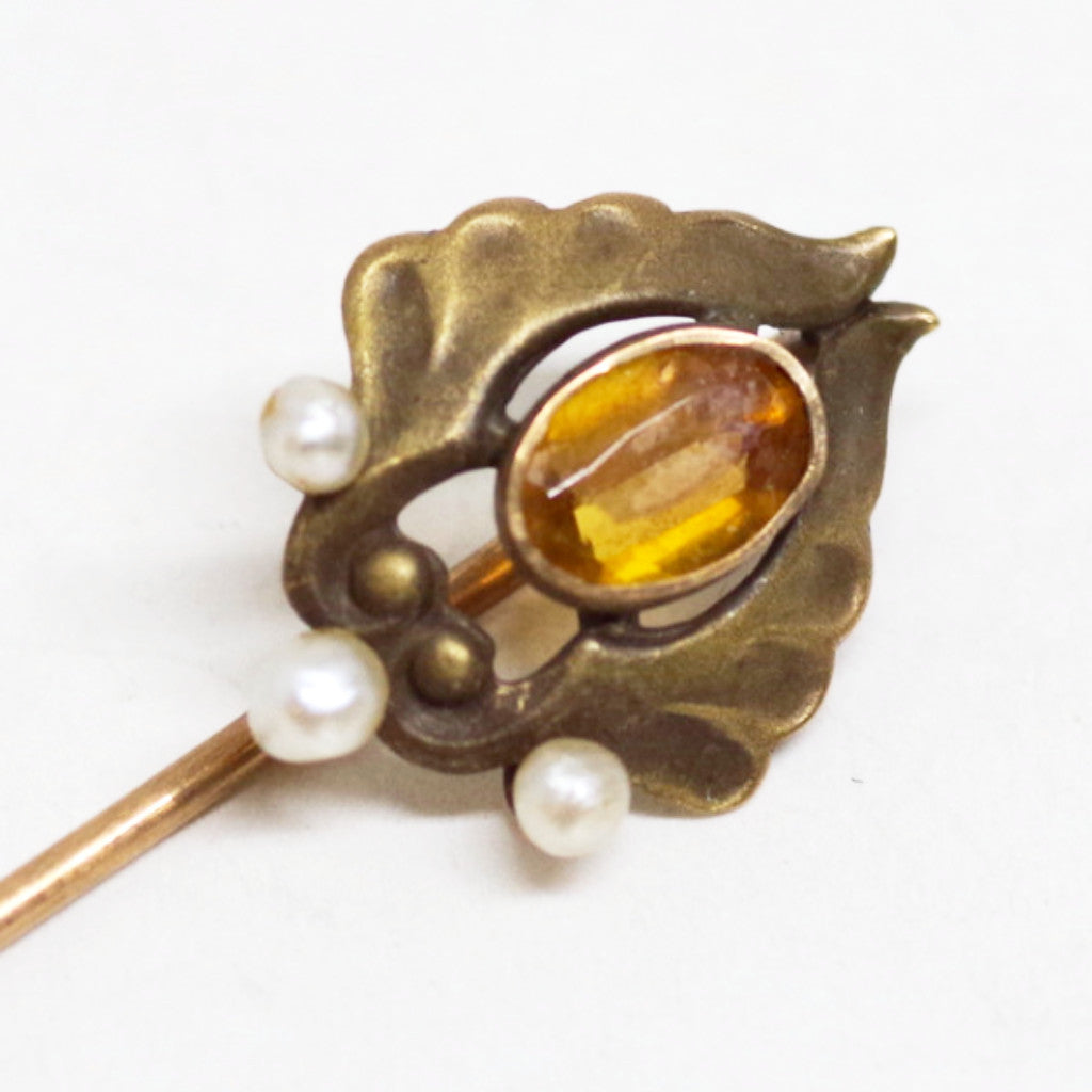 10kt Gold Winged Stick Pin