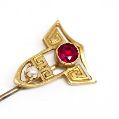 10kt Gold Meandering Stick Pin
