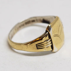 Gold On Silver Sunshine Ring