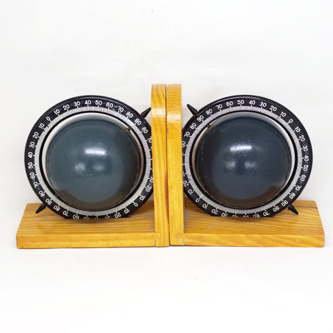 Rotating Planet Wooden Bookends