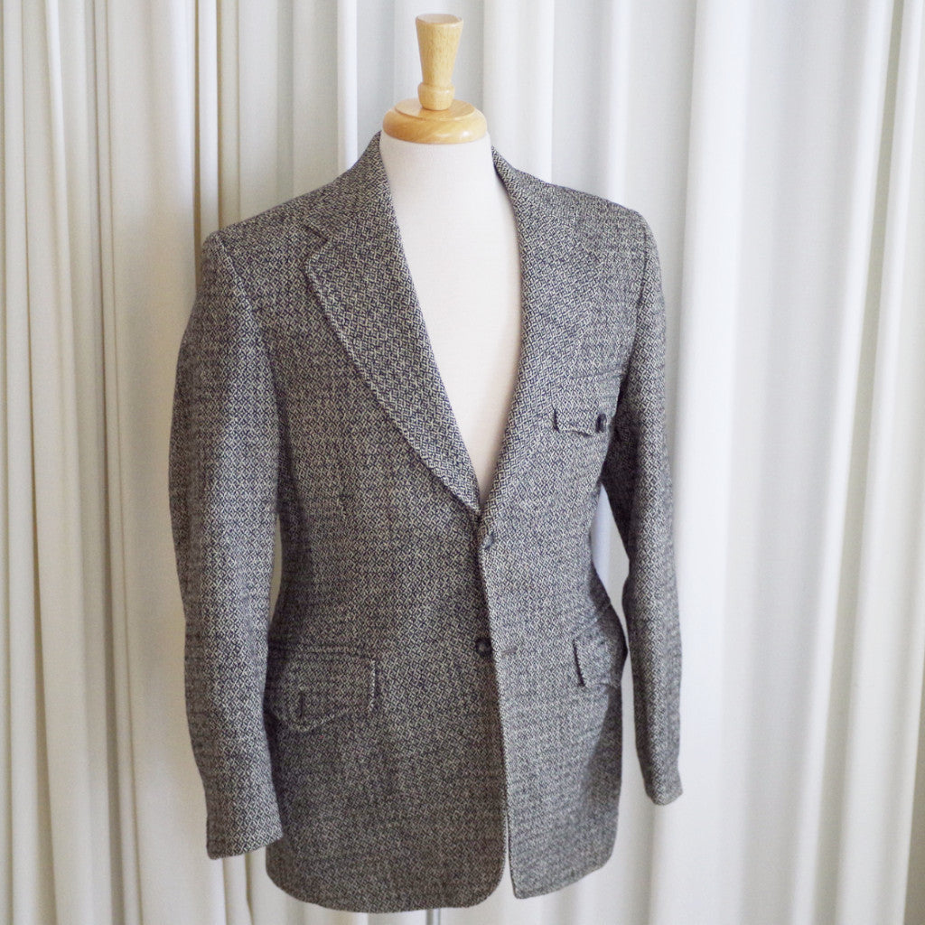 Vintage Grey Harris Tweed Sport Coat- 42