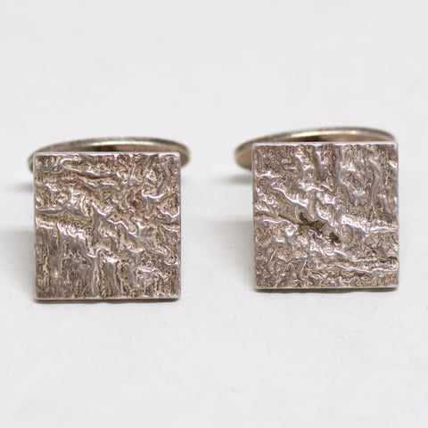 Sterling Topographic Cufflinks