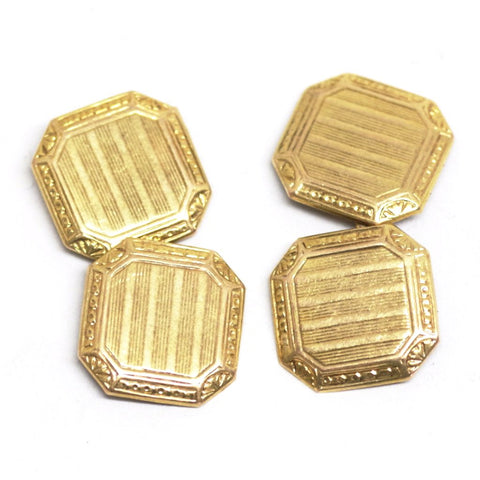 10kt Gold Lightly Etched Cufflinks