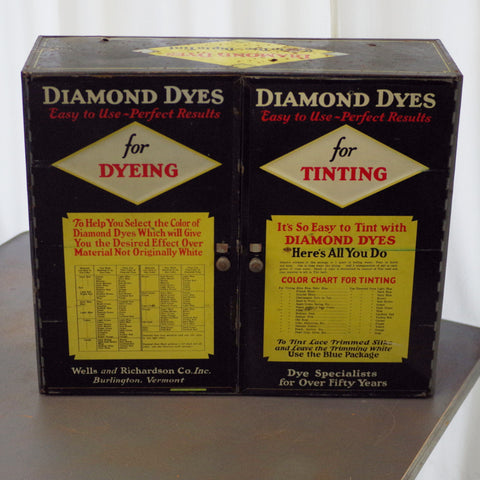 Vintage Diamond Dyes Metal Cupboard