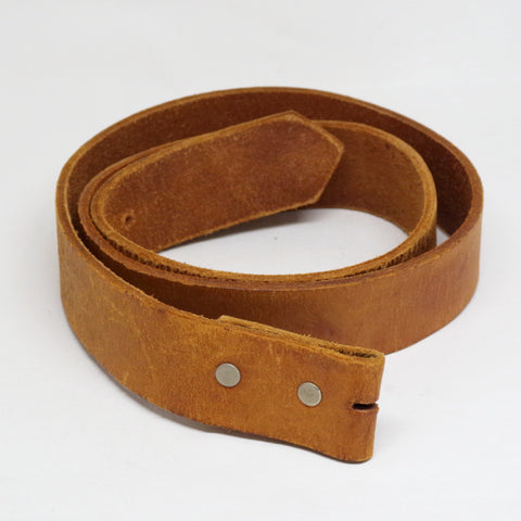 Vintage Tan Leather Belt- 34/36
