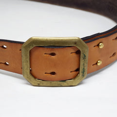 Handmade Rising Sun Leather Belt- 32/34