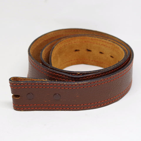 Vintage Red Stitch Leather Belt- 38/40