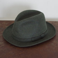Vintage Lock & Co. Heathered Green Fedora- 7 3/8