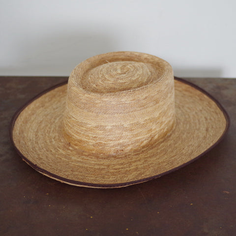 Vintage Wide Brim Straw Hat- 7