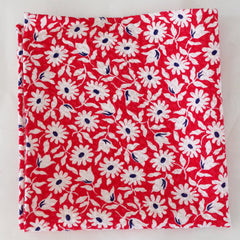 Blooming Red and White Seersucker Cotton Pocket Square by Put This On
