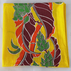 Adventurous Yellow Tree Cotton Pocket Square by Put This On