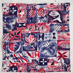 Chilled-Out Island Pattern Seersucker Cotton Pocket Square by Put This On