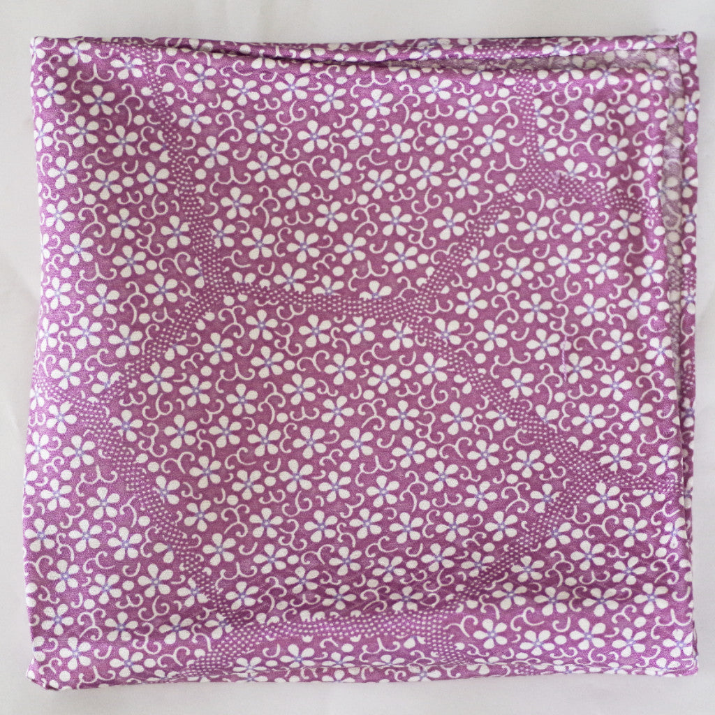 Bouncy Lilac Floral Rayon Pocket Square by Put This On