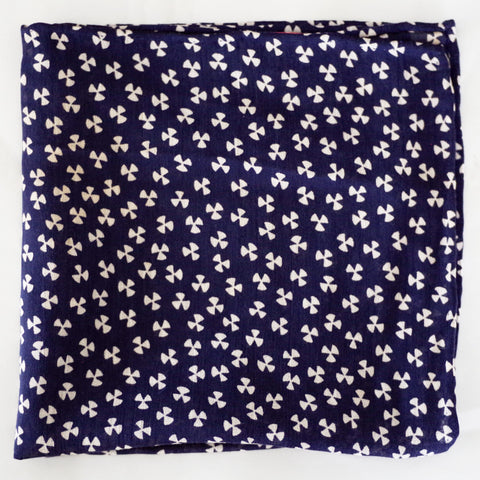 Soaring Navy and White Rayon Pocket Square by Put This On