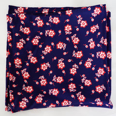 Bouncy Navy and Red Floral Rayon Pocket Square by Put This On