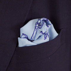 Locked Up Blue Rayon Pocket Square by Put This On