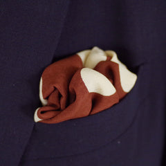 Lively Brown Polka Dot Silk Pocket Square by Put This On