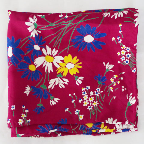 Fun Burgundy Floral Rayon Pocket Square by Put This On