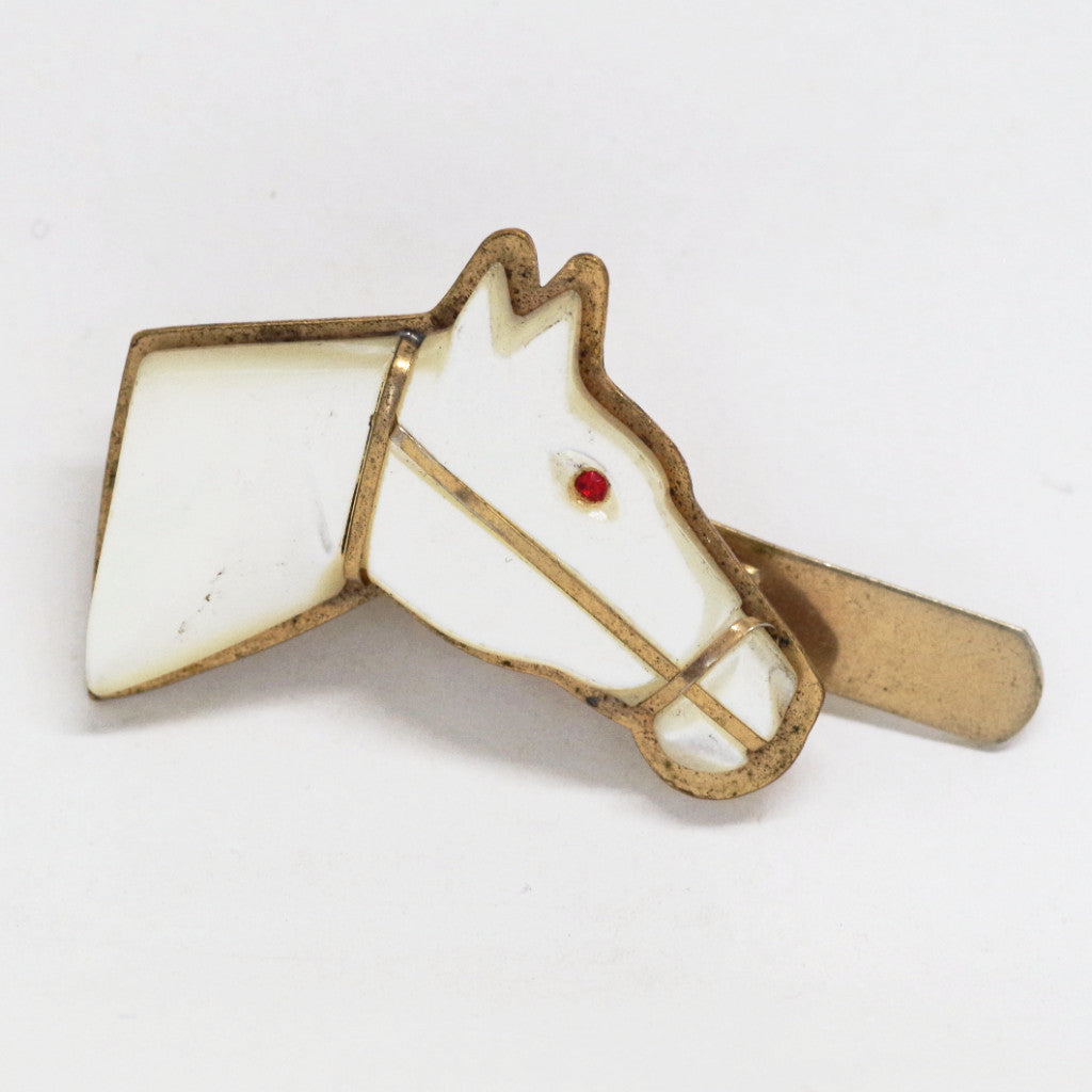 Mother of Pearl Horse Head Tie Bar