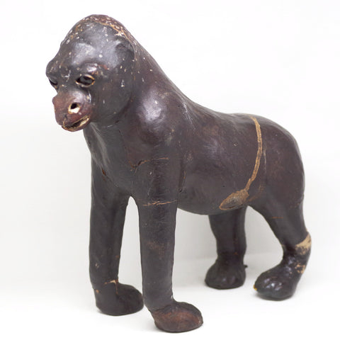 Miniature Gorilla Taxidermy Statue