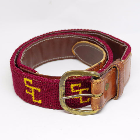 Vintage Needlepoint USC Belt- 33/34