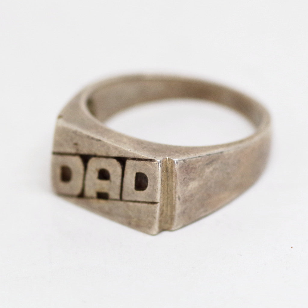 "Sterling ""DAD"" Ring"