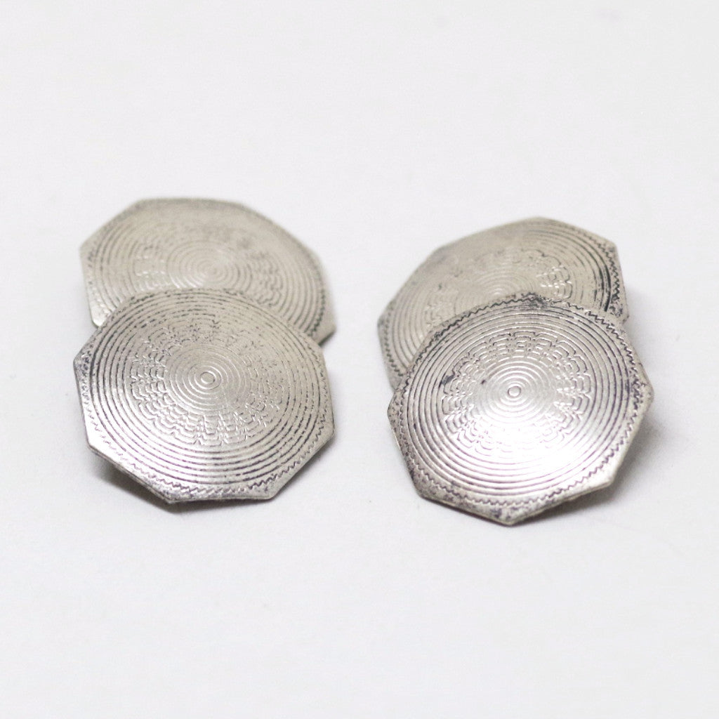 Blooming Sterling Engraved Cufflinks